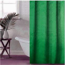 Штора Полоса ткань Премиум однотона 180х180 зелена темна